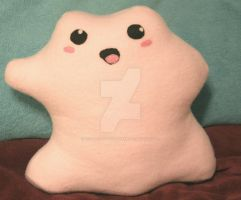 Adorable Ditto Plushie by 1stQueenOfHalloween