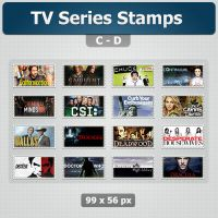 TV Series Stamps (C-D) by limav