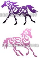 Tribal Collektion- Horses by Hatter2theHare
