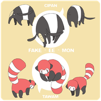 Fakemon Contest Entry - CIPAN and TAWAM by cherifish