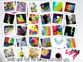 smile and feel the colors around you by craxyness