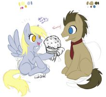 Derpy Whooves Progress! by Faehl