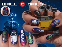 Wall e nails by Ninails