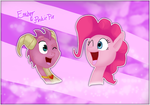 Pinkie pie and Ember by Maria-Ben
