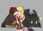 HTTYD2: Hiccup and Astrid by kazeichiru