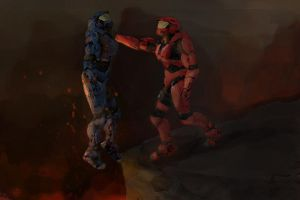 Red vs Blue :D by Iceey23