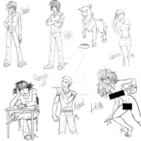 Heart Characters, New Sketches by Timekeeper101