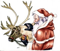 2011 Christmas Card art by Smashed-Head