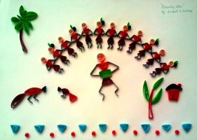 Warli Quilling by Swapneil
