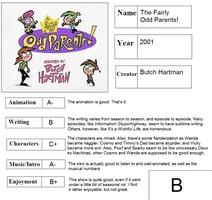 The Fairly OddParents scorecard by Ragameechu