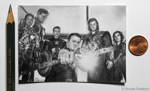 Avengers sketch card by Quelchii