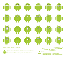 A Tribute To Android Emoticons by Mobiusu