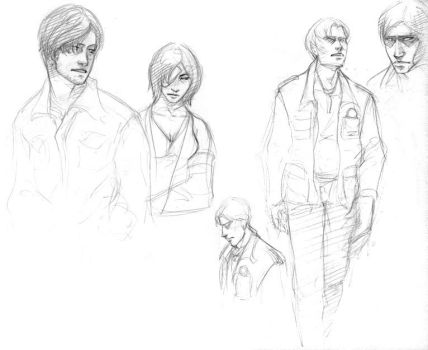 Silent Hill sketches by tigrin