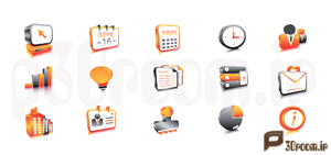 Business icons by p30room