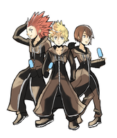 Roxas, Axel and Xion by AlSanya