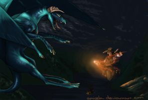 ::Attack of the Night:: by Amicela