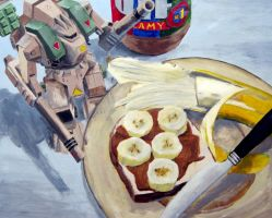 Robotech, bananas and peanut butter by generalboyd