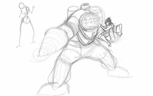 BigDaddy Rough sketch by MicAwesome