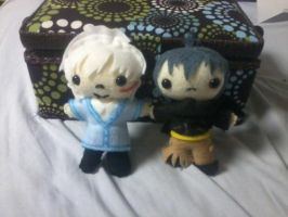 Nezumi and Sion Plushies by waterbender-chan