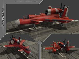 Red plane by Awiz