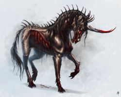 Demented Unicorn by rpowell77