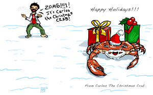 Carlos The Christmas Crab by cow41087