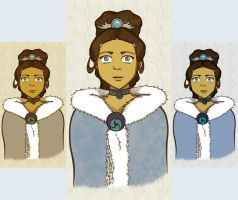 Fancy Katara - colors by rashaka