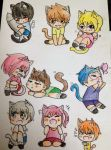[WaterColor] Kittes by nammon02
