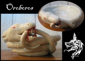 Ceramic Bowl: Oroboros by SabarielLocien