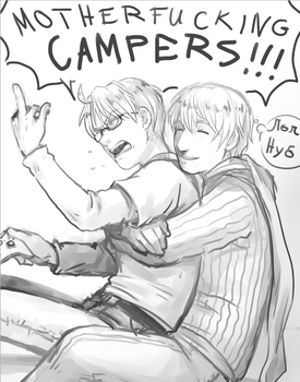 APH: FUCKING CAMPERS by PunPuniChu