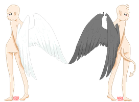 Angel v. Demon Base by Poxkat
