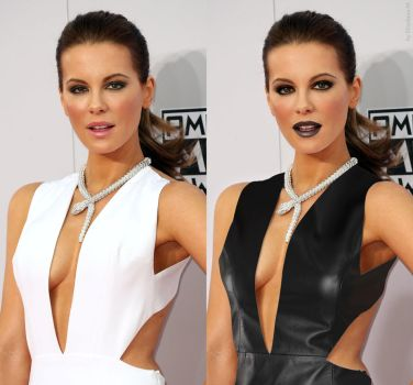 Kate Beckinsale leather fake 01b before and after by ElisabetaM