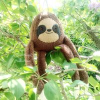 Stuffed Sloth Plushie, Plush Jungle Animal by Saint-Angel