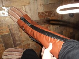 Faux Leather Spats by cobrasNolf
