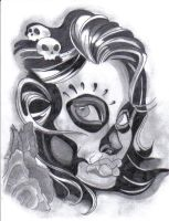 Day of The Dead Head by sick-girl87