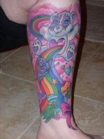 left lower leg tattoo finished by jenna3174