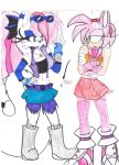 'Oh, We're Dating Now~' Sonic Boom Anna and Amy by AsiaTheAnimator