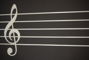 Music Treble Clef Stock 2 by AnimeLoverSam
