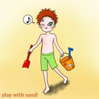 Gaara plays with Sand by CamillaBB