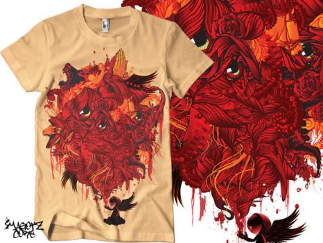 bloody biclo tee by MAGOTZCORE