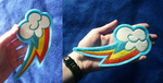 6 inch Rainbow Dash Cutie mark patch V2 by goiku
