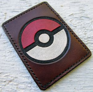 Pokeball Leather Card Wallet by Kaje202