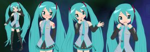 Hatsune Miku Lucky Star Style by Primantis