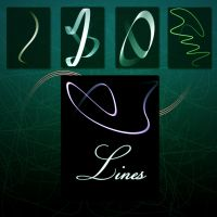Lines Brushes by LunaticKio