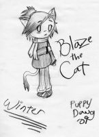 A Snowy Day With Chibi Blaze by Assistant-Puppy-Dawg