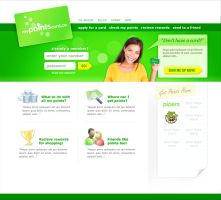 myPointscard site by CoryWayDesign