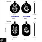 Social and Vigilant Reversible Wolf Tags July 23 by GoodSpiritWolf
