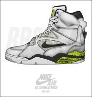 "Nike Air Command Force ""Neon"" by BBoyKai91"