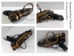 Futuristic Steampunk Gun :Modification: by LuscyArt