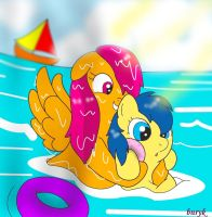 Swimming Lesson by BunearyK
